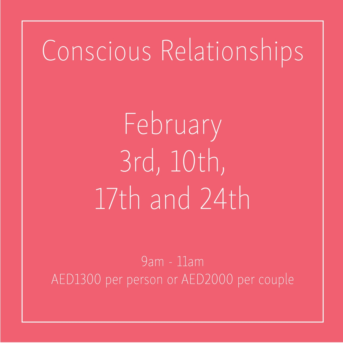 Conscious Relationships February_Social Media Art 1