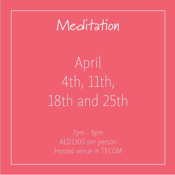 Meditation April_Social Media Art 1