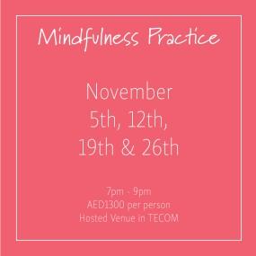 course banner Mindfulness Mondays November_Social Media Art 1