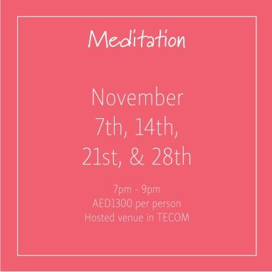 Meditation November 2018_Social Media Art 1