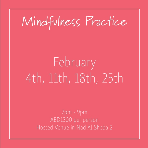 course banner Mindfulness Mondays February_Social Media Art 1