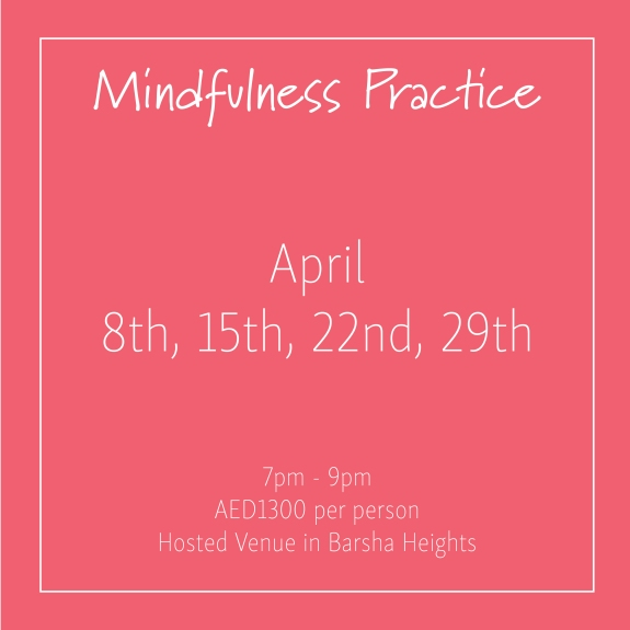 course banner Mindfulness Mondays April_Social Media Art 1